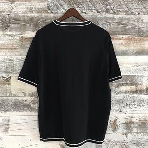 Hermes Shirts - Hermès Black Tee with White trim
